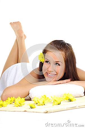 Beautiful woman after spa