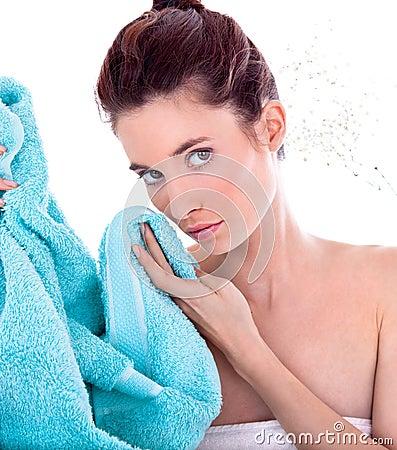 Beautiful woman before spa treatment