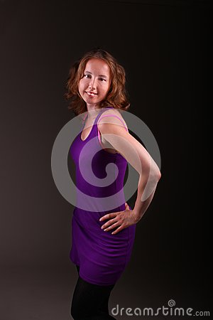Beautiful woman in a sporty dress