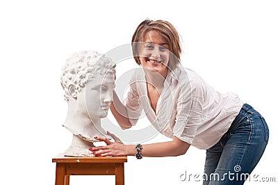 Woman Standing Over Man Beautiful Woman Standi...