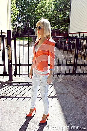 Beautiful woman standing outdoors