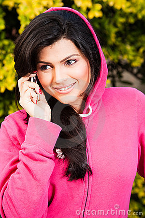 Beautiful woman talking on mobile phone