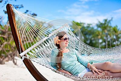 Beautiful woman on vacation