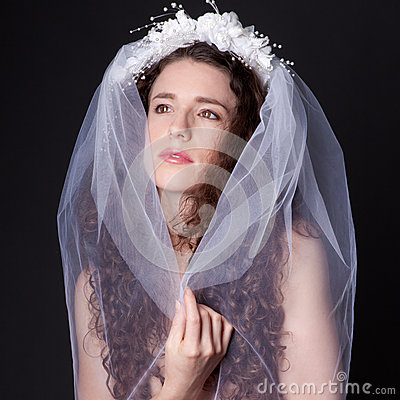 Beautiful Woman in Veil