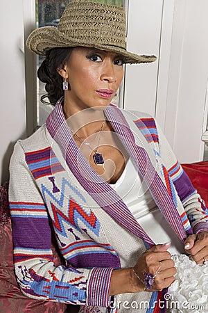 Beautiful Woman Wearing Designer Jacket