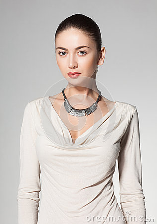 Necklace Beautiful Woman On 38