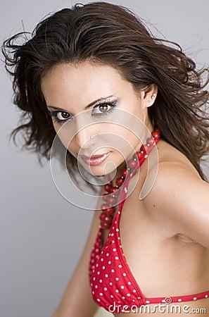 Free Beautiful Woman Wearing Red Bikini Royalty Free Stock Photos - 4472898