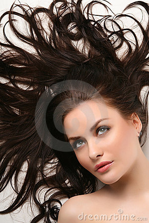 Free Beautiful Woman With Clean Shiny Hair Royalty Free Stock Photos - 8047718