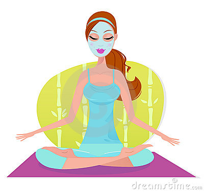 Free Beautiful Woman With Facial Mask Doing Meditation Royalty Free Stock Photo - 20275385