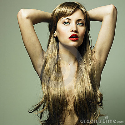 Free Beautiful Woman With Green Eyes Stock Photo - 12187640