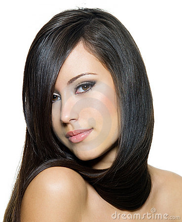 Free Beautiful Woman With Long Straight  Hair Royalty Free Stock Photography - 23286087