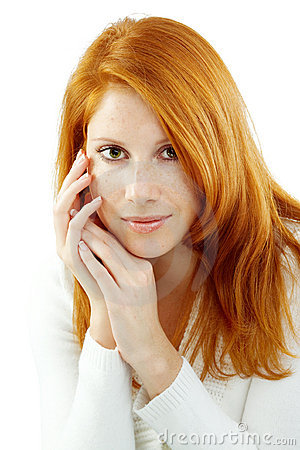 Free Beautiful Woman With Red Hair Royalty Free Stock Image - 11063586