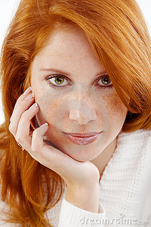 Free Beautiful Woman With Red Hair Royalty Free Stock Photos - 7402538