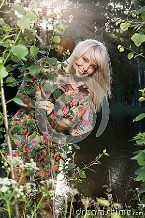 Beautiful women in plants