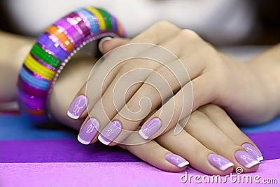 Beautiful women s manicure