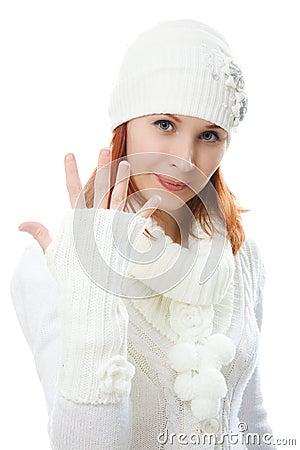 Beautiful women in warm clothing