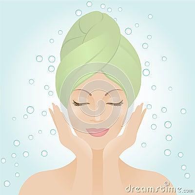 Free Beautiful Women Washing Her Face Stock Photography - 11402512