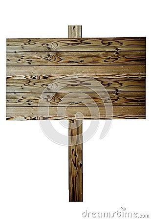Beautiful wood fence sign