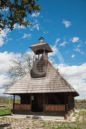 Beautiful wooden church monument in Romania