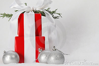 Beautiful Wrapped Christmas Gifts Stock Photos Image 17112413