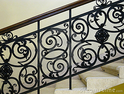 Beautiful wrought-iron railing