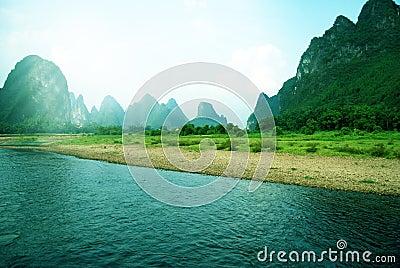 Beautiful Yangshuo landscape in Guilin, China