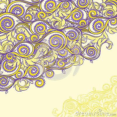 Beautiful yellow and purple pattern