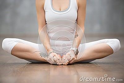 Beautiful Yoga: butterfly pose Stock Photo