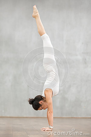 Free Beautiful Yoga: Downward Facing Tree Pose Stock Images - 83518574