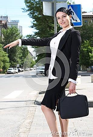 Beautiful youn business woman