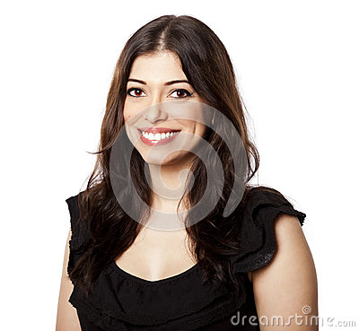 Isolated Happy Woman