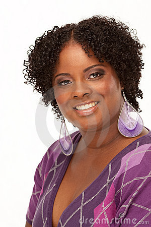 Beautiful Young African American Woman Portrait