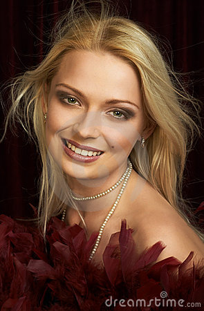 Beautiful young blonde woman. Portrait.