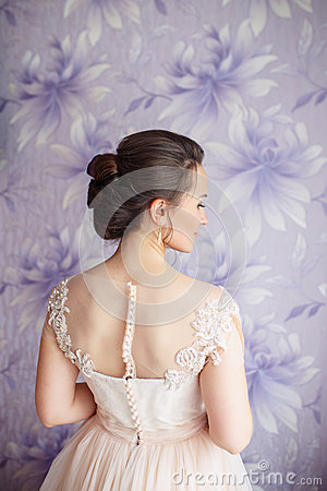 Free Beautiful Young Bride With Wedding Makeup And Hairstyle In Bedroom.Beautiful Bride Portrait With Veil Over Her Face. Closeup Royalty Free Stock Photos - 85789778
