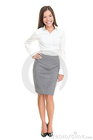 Beautiful Young Business Woman Full Body On White Stock ...