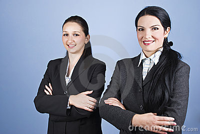 Beautiful young business women