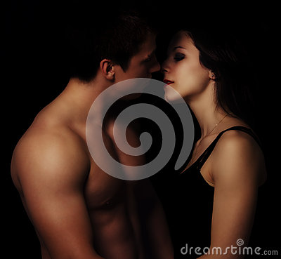 Free Beautiful Young Couple Hugging And Kissing Stock Photo - 32428140