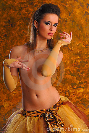 Beautiful young erotic topless girl