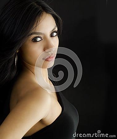 Beautiful young exotic woman