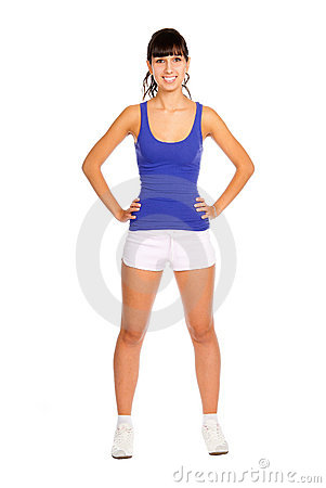Beautiful Young Fitness Trainer Royalty Free Stock Photo - Image: 14998725