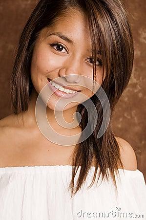 Beautiful young fresh faced Asian woman