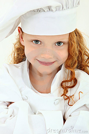 Free Beautiful Young Girl Child In Chef Uniform And Hat Stock Photos - 22011443