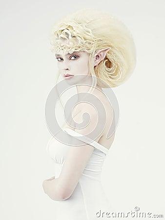 Beautiful young girl elf