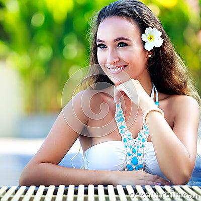 Beautiful young girl relaxing