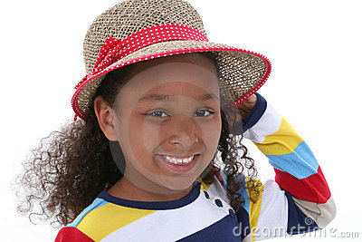 Beautiful Young Girl In Summer Hat