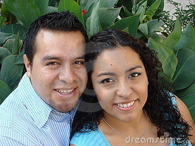 Beautiful Young hispanic Couple in Love
