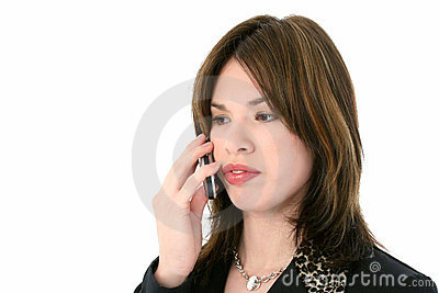 Beautiful Young Hispanic Woman On Cellphone