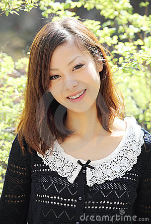 Beautiful young japanese woman