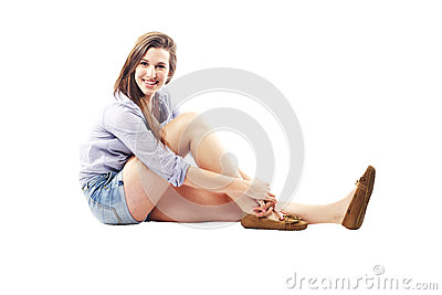 Beautiful young lady with amazing smile
