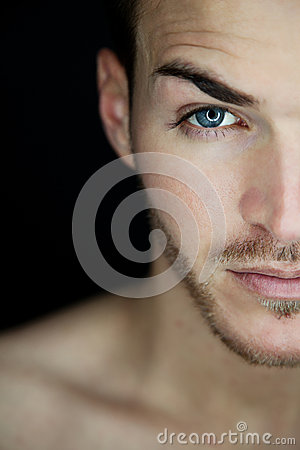 Free Beautiful Young Man Half Face Stock Photo - 30678910